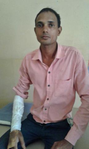 Balduram cobra bite patient - Anjili Health care centre